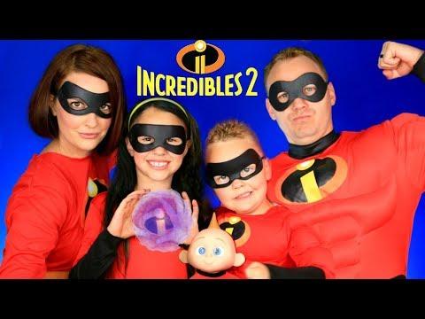 Disney Pixar Incredibles 2 Mr. Incredible Elastigirl Violet Dash Jack Jack Makeup and Costumes