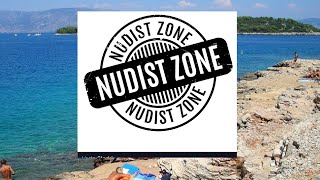 NUDIST CAMP VRBOSKA, HVAR - the beach, July 2016