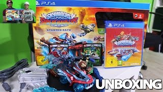 SKYLANDERS SUPERCHARGERS STARTER PACK UNBOXING PS4 - [DEUTSCH] [HD] Dual auspacken