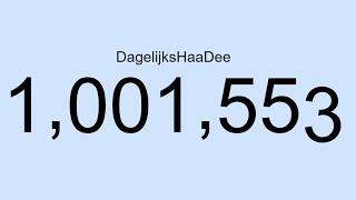 Bedankt voor de 1 MILJOEN! WOW!