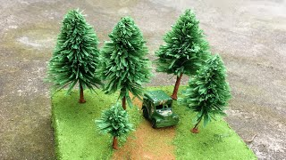 ABC TV | How To Make Miniature Pine Tree From Crepe Paper - Craft Tutorial