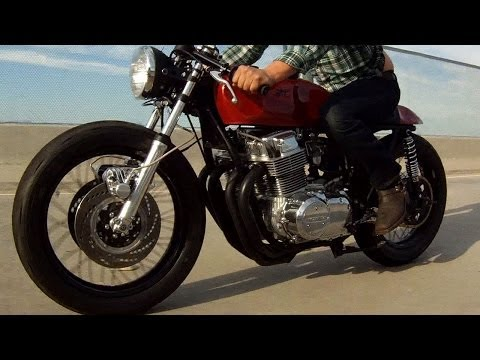Kott Motorcycles 1973 Honda CB750 Custom Cafe Racer GoPro Hero 3+