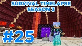 DESIGNING NETHER HUB | Minecraft Survival Timelapse Season 3 Episode 25 | GD Venus |