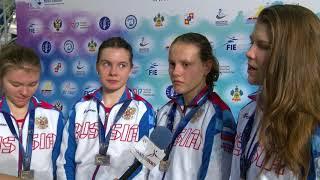 Сборная России - победители первенства Европы / Сабля девушки кадеты