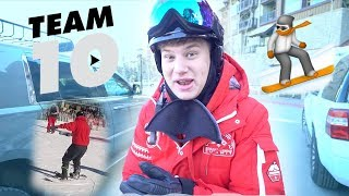 Snowboarding with TEAM 10 **GONE WRONG**