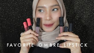 5 FAVORITE OMBRE LIPS + TUTORIAL | jeanasution