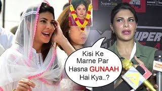 Jacqueline Fernandez's SHOCKING Reply On Laughing While Attending Sridevi PASSING AWAY