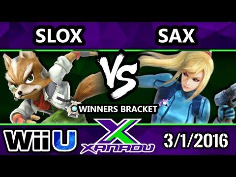 S@X 139 - Sax (Zero-Suit Samus) Vs. Slox (Mario, Fox) SSB4 Tournament - Smash Wii U - Smash 4