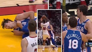 James Johnson Hits Dario Saric in the NUTS | Saric Wants To Fight Him