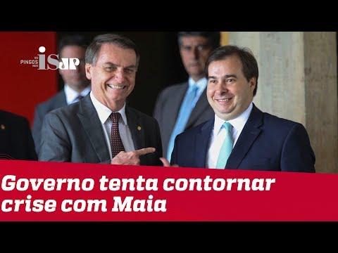 Governo tenta contornar crise com Maia