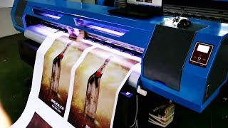 1800mm Large Format Printer with EPSON XP600 Printhead Factory Video on Features, Testing & Printing