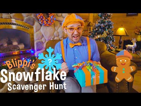 Blippi s Holiday Movie Christmas Scavenger Hunt for Kids