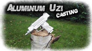 Metal Casting Aluminum Uzi Submachine Gun