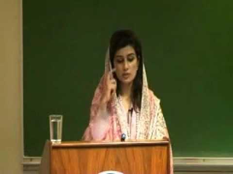 Pakistan Foreign Minister Hina Rabbani Khar speaks at LUMS April 2012