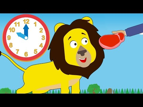 Feeding Time At Number Zoo | Learn To Tell Time With Toddler Fun Learning