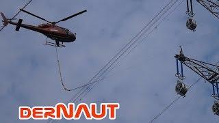 VOLL KRASS | Hubschrauber fädelt Leitung an Hochspannungsmast ein - Netzausbau am Niederrhein