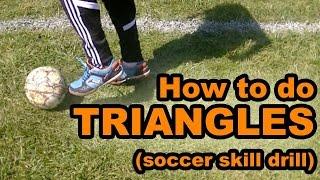 Football/Soccer Skill Tutorial on the Triangle - Footskills ⚽
