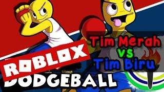 ROBLOX Dodgeball Tim Biru vs Tim Merah BOSS!