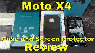 Moto X4 - Case and screen protector review - Both under $10!