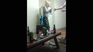 Drunk Irish Girl Knocks Herself Out Tryin To Fight