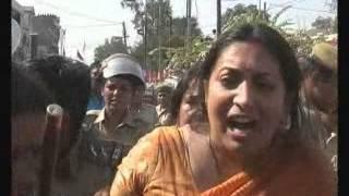 Protesting Rapes, Smriti Irani gets lathicharged in Rohtak