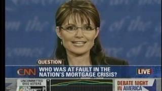 Palin on Sub-Prime Mortgage Lending Crisis