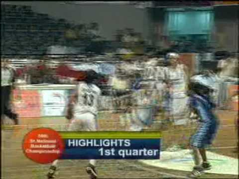 Indian basketball;: star players,singh sisters playing hard....delhi Vs Tamilnadu...