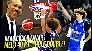 LaMelo Ball STRAIGHT FOOLIN! 40 POINT TRIPLE DOUBLE in LaVar