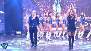 ¡El Polaco y Silvina Luna cantaron juntos en Showmatch!