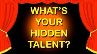 WHAT IS YOUR HIDDEN TALENT? Personality Test |  Mister Test