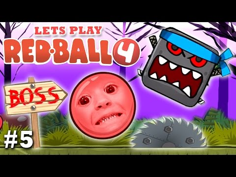 Mom & Chase play RED BALL 4: THE FOREST BOSS FIGHT!  (Part 5 FGTEEV Gameplay)