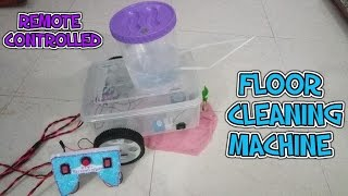 How to make a Remote Controlled floor cleaning machine.