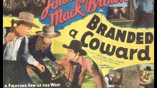 Branded a Coward JOHNNY MACK BROWN western movie full length