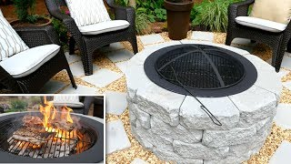 DIY   Fire Pit / Grill + Patio