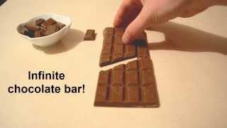 Infinite chocolate bar trick - Chocolate Magic