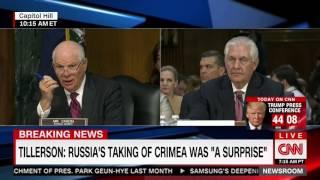 "Tillerson criticizes ""weak"" Obama response to Russian annexation of Crimea"