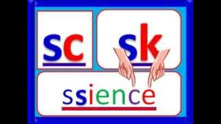 S Family Consonant Sounds; sc, sh, sk, sl, sn, sm, sp, st, sw, sy, squ