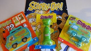 Scooby-Doo Magazines with The Mystery Machine Cars & Bone Fan Toys Surprise