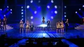 Cast of Glee perform Don't Stop Believing   The X Factor Live Semi Final Results Full Version