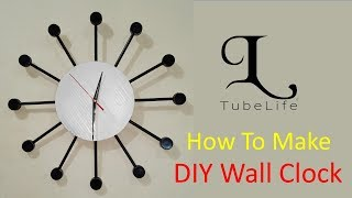 DIY Wall Clock | How to make a wall clock with wastage's | Handmade idea | Crafts idea | TubeLife
