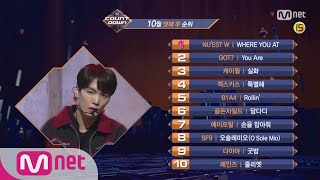 What are the TOP10 Songs in 3rd week of October? M COUNTDOWN 171019 EP.545