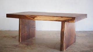 DIY Live Edge Slab Coffee Table | Modern Builds | EP. 23