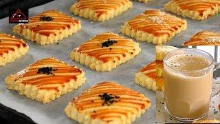 Afghani Salty Biscuit with Pakistani Doodh Patti Chai - کلچه نمکی افغانی همراه با چای پاکیستانی