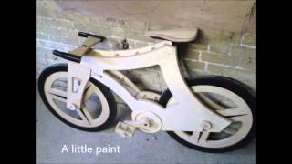A wooden bicycle . plybike