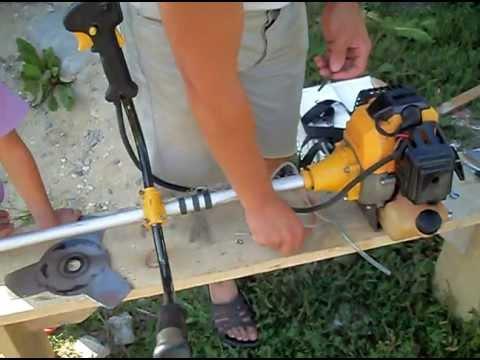 Бензиновый триммер huter ремонт своими руками