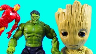 Huge Marvel Toy Collection With Hulk Iron Man Talking Dancing Groot Captain America And Wolverine