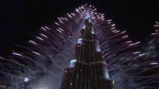 Dubai Fireworks 2016 HD 1080P, Burj Khalifa , New years eve Fireworks