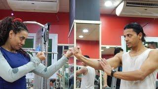 يوم عسل نسر الكونغ فو في الجيم بيستعد للفيلم Training for the new film in the gym