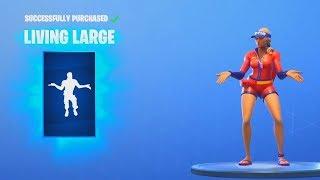 *NEW* LIVING LARGE & GO! GO! GO! Dance Emotes (Fortnite Item Shop Update August 10)