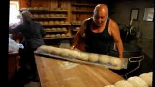 Wood fire bread baking in Volleges
